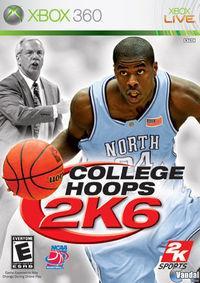 Portada oficial de College Hoops 2K6 para Xbox 360