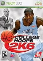 Portada oficial de de College Hoops 2K6 para Xbox 360
