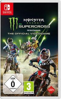 Portada oficial de Monster Energy Supercross - The Official Videogame para Switch