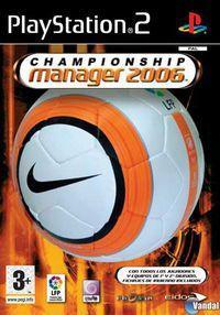Portada oficial de Championship Manager 2006 para PS2