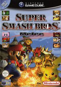 Portada oficial de Super Smash Bros. Melee para GameCube