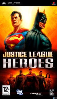 Portada oficial de Justice League Heroes para PSP