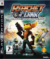 Portada oficial de Ratchet y Clank: Armados hasta los dientes para PS3
