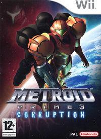 Portada oficial de Metroid Prime 3: Corruption para Wii