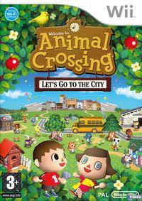 Portada oficial de Animal Crossing: Let's Go To The City para Wii