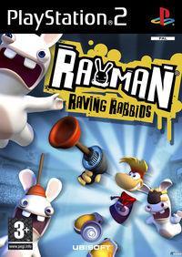 Portada oficial de Rayman Raving Rabbids para PS2