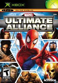 Portada oficial de Marvel: Ultimate Alliance para Xbox