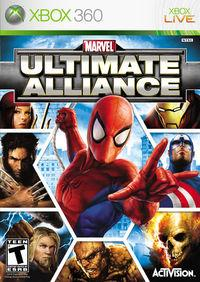 Portada oficial de Marvel: Ultimate Alliance para Xbox 360