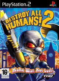 Portada oficial de Destroy All Humans! 2 para PS2