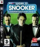 Portada oficial de de World Snooker Championship 2007 para PS3