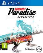Portada oficial de de Burnout Paradise Remastered para PS4