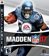 Portada oficial de Madden NFL 07 para PS3