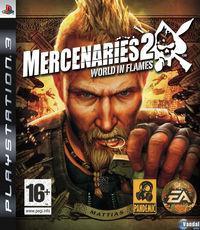 Portada oficial de Mercenarios 2 para PS3