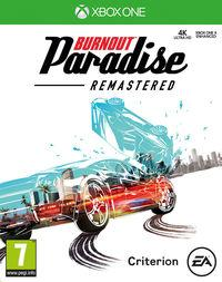 Portada oficial de Burnout Paradise Remastered para Xbox One
