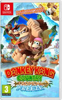 Portada oficial de Donkey Kong Country: Tropical Freeze para Switch