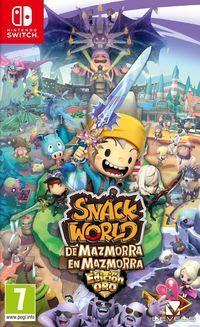 Portada oficial de Snack World: De mazmorra en mazmorra para Switch