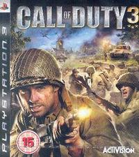 Portada oficial de Call of Duty 3 para PS3