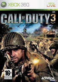 Portada oficial de Call of Duty 3 para Xbox 360