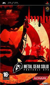 Portada oficial de Metal Gear Solid Portable Ops para PSP