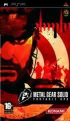 Portada oficial de de Metal Gear Solid Portable Ops para PSP