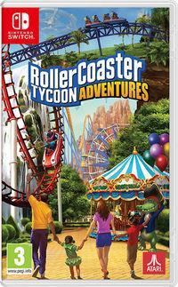 Portada oficial de RollerCoaster Tycoon Adventures para Switch