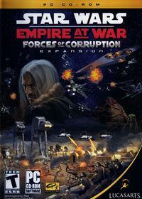 Portada oficial de Star Wars Empire at War: Forces of Corruption para PC