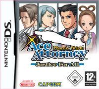 Portada oficial de Phoenix Wright: Ace Attorney Justice For All para NDS