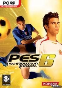 Portada oficial de Pro Evolution Soccer 6 para PC