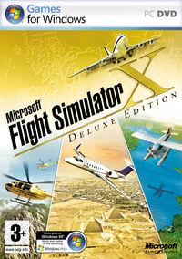 Portada oficial de Flight Simulator X para PC