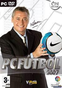 Portada oficial de PC Fútbol 2007 para PC