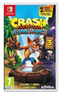Portada oficial de Crash Bandicoot N. Sane Trilogy para Switch