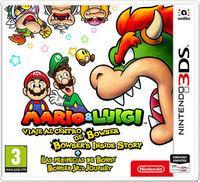 Portada oficial de Mario & Luigi: Viaje al centro de Bowser + Las peripecias de Bowsy para Nintendo 3DS