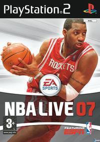 Portada oficial de NBA Live 07 para PS2