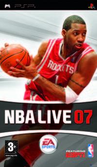 Portada oficial de NBA Live 07 para PSP