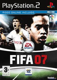 Portada oficial de FIFA 07 para PS2