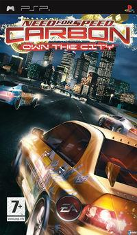 Portada oficial de Need for Speed Carbono Domina la Ciudad para PSP