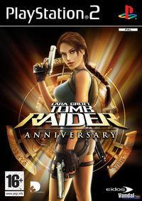 Portada oficial de Tomb Raider Anniversary Edition para PS2