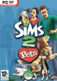 Portada oficial de Los Sims 2 Mascotas para PC