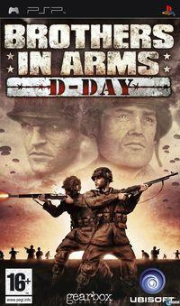 Portada oficial de Brothers in Arms D-Day para PSP