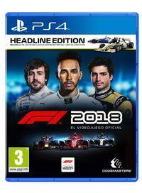 Portada oficial de F1 2018 para PS4