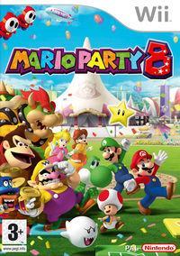 Portada oficial de Mario Party 8 para Wii