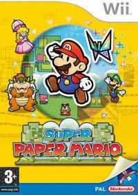 Portada oficial de Super Paper Mario para Wii