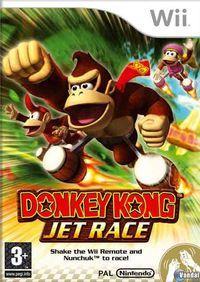 Portada oficial de Donkey Kong Jet Race para Wii