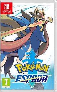 Portada oficial de Pokémon Espada y Escudo para Switch