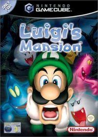 Portada oficial de Luigi's Mansion para GameCube