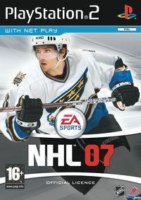 Portada oficial de NHL 07 para PS2