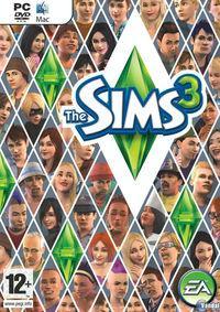 Portada oficial de Los Sims 3 para PC