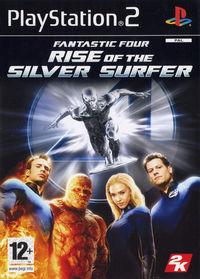 Portada oficial de Los 4 Fantásticos: Rise of the Silver Surfer para PS2