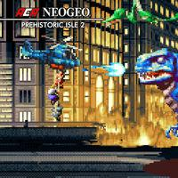 Portada oficial de NeoGeo Prehistoric Isle 2 para Switch