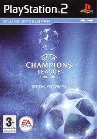 Portada oficial de UEFA Champions League 2006-2007 para PS2